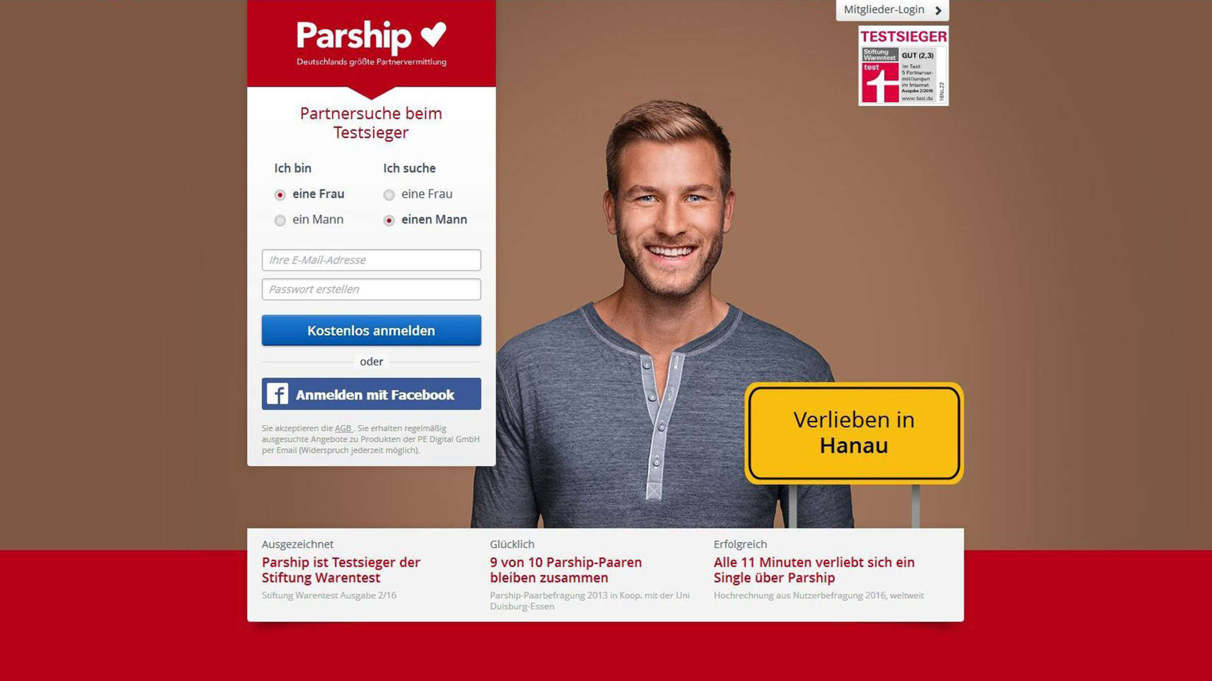 Werbung model parship 2017 Werbung 2017: