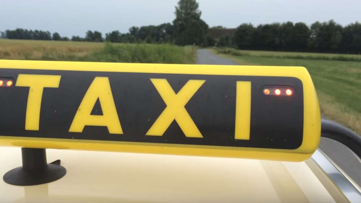 Blinkendes Taxischild